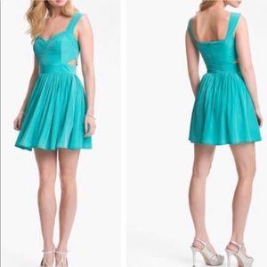 Keepsake the label fit flare dress aqua sweetheart
